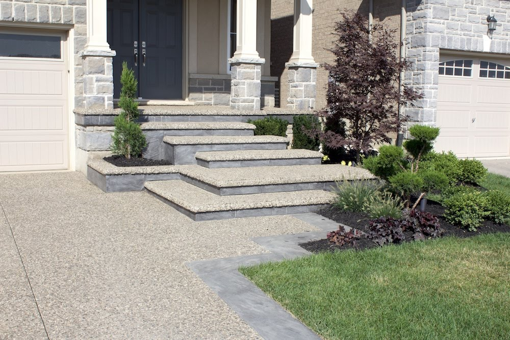 Aggregate Cascading Walkway and Steps
